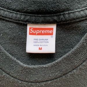 Supreme Shirts - Supreme Hey Fuckface Black Tee size M